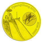 front of 20,000-won gold coin