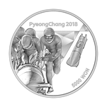 front of 5,000-won silver coin