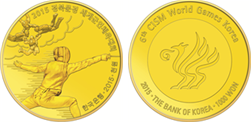 front and back of 1,000-won brass coin